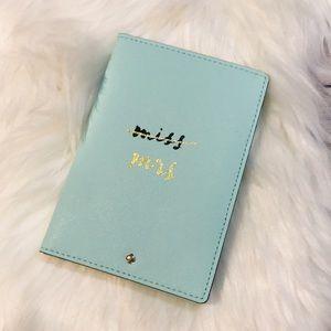 Kate Spade passport holder aqua blue NWT